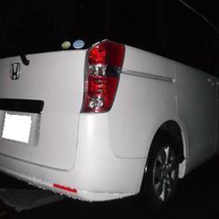 ホンダステップワゴンDBA-RK1 リアゲート板金塗装他 総工賃130,000円/エンブレム交換 部品代1,680円