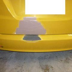 ホンダフィット DBA-GE8 リアゲート・バックパネル板金塗装、リアバンパー修理費用 総工賃120,000円