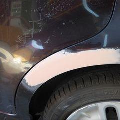 ニッサンのキューブ DBA-Z12 :傷の修理方法と費用  左クォータパネル板金塗装 工賃50,000円