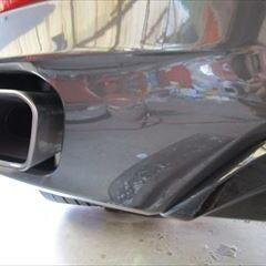 ダイハツのタント DBA-LA600S  :傷の修理方法と費用 フロントバンパー脱着、右サイドポート板金、塗装、他 総工賃51,200円