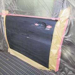 ニッサンのフーガ DBA-PY50  :傷の修理方法と費用 フロントバンパー修理費用、左フロントフェンダ板金塗装 総工賃83,000円