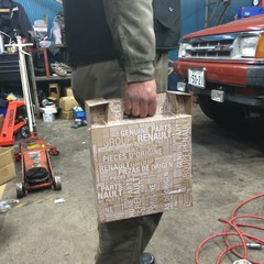 カングー(ルノー) 車検整備 ブレーキパット交換 ローター交換