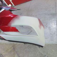 マツダアテンザ LDA-GJ2FP フロントバンパー脱着修理費用、右ステップ・ロックピラー修理費用、塗装 総工賃100,000円