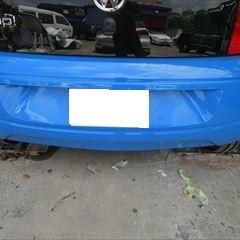 トヨタポルテ DBA-NCP141 右リアドア・クオータパネル・リアバンパー修理費用、塗装 総工賃140,000円