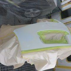 マツダビアンテ DBA-CCFFW 左フロントフェンダ板金塗装、フロントバンパー修理費用塗装 総工賃70,000円ロントバンパー修理塗装 総工賃70,000円