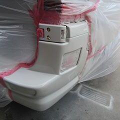 ダイハツミラ CBA-L275S 左フロントドア・リアドア・クオータパネル板金塗装 総工賃150,000円