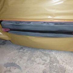 ホンダフィットハイブリッド DAA-GP1 リアゲート・リアバンパー修理費用、フロントバンパー修理費用 総工賃120,000円