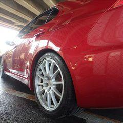 三菱ランサーエボリューションX CBA-CZ4A リアバンパー脱着修理費用、左クォーター・パネル板金、塗装、他 150,000円