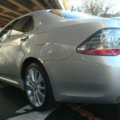トヨタクラウンHV DAA-GWS204 左フロントドアパネル・左クォーター・パネル板金、左リアドアパネル交換、塗装、他 総工賃163,380円/