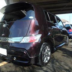 トヨタbB CBA-QNC20 右リアドア・右クォーター・サイドスポイラー 合計3パネル 板金塗装 総工賃104,000円