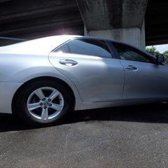 トヨタマークX DBA-GRX130 右リアドア、右クォーター・パネル板金塗装 工賃80,000円(税別)