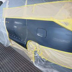 トヨタのエスティマ(DBA-ACR50W):クォータープロテクタモール他の交換 部品代金5,010円/左スライドドア、クォーター・パネル板金、塗装 作業工賃110,000円/合計金額(税込)124,210円