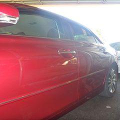 トヨタのマークX(DBA-GRX130):左リアドア、左クォーター・パネルの板金、塗装 作業工賃130,000円/合計金額(税込)140,400円