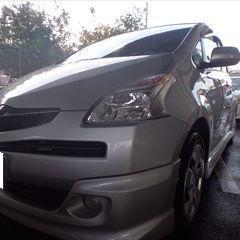 トヨタのラクティス(DBA-NCP100):左フロントドア、左リアドア、左クォーター・パネル板金、リアバンパー他脱着修理費用、塗装 作業工賃173,000円/合計金額(税込)186,840円