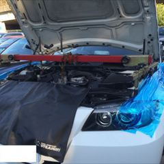 BMWのX3:24ヶ月点検、車検代行、エンジン整備(またオイルエレメント交換など)、ファンベルト整備・交換 部品代51,560円(税抜き)