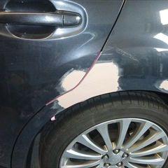 スバルのレガシィツーリングワゴン(DBA-BR9):左リアドア、左クォーター・パネルの板金塗装 作業工賃100,000円/合計金額(税込)108,000円