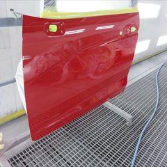 ホンダのフィット(DBA-GK3):左フロントドア、左リアドア、ロッカーパネルの板金、塗装 作業工賃140,000円(税抜き)