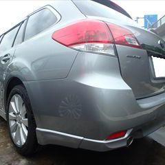 スバルのレガシィツーリングワゴン(DBA-BR9):フロントバンパー、リアバンパー修理費用、塗装 作業工賃80,000円/合計金額(税込)86,400円