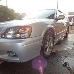 スバルのレガシィツーリングワゴン(TA-BH5):フロントバンパー、左フロントフェンダ修理費用、塗装、左ヘッドライト磨き 作業工賃80,000円/合計金額(税込)86,400円
