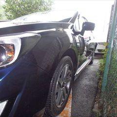 スバルのインプレッサG4(DBA-GJ2):左リアドア交換など/左リアロックピラー、左クォーターパネル、左タイヤハウスの板金、塗装 〔自動車保険利用〕