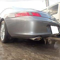 ポルシェの911(GF-99603):フロントバンパー、リアバンパー修理費用、塗装 作業工賃120,000円/合計金額(税込)129,600円