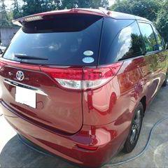 トヨタのエスティマ(DBA-ACR50W):バックドア、バックパネル、リアバンパーの脱着修理費用、板金、塗装 作業工賃220,000円/合計金額(税込)237,600円