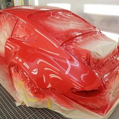 ポルシェの911ターボ(964型):オールペイントとガラスコーティング