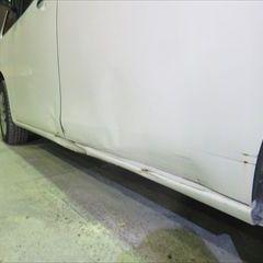 日産のフーガ(CBA-Y50):フロントバンパー脱着修理、塗装、24カ月点検、タイヤ交換など