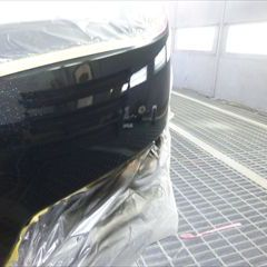 スバルのレガシィツーリングワゴン(DBA-BR9):フロントバンパー修理、塗装 作業工賃25,000円/合計金額(税込)27,000円