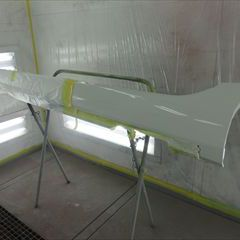 ボルボのV40(DBA-MB4164T):左リアドア、左クォーターパネル、左サイドシルの板金、塗装 作業工賃200,000円/合計金額(税込)216,000円