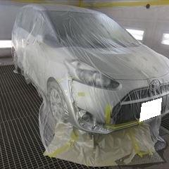 トヨタのハリアー(CBA-ACU30W):リアゲート板金、塗装 作業工賃100,000円/合計金額(税込)108,000円