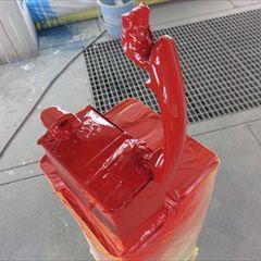 フォルクスワーゲンのポロ(DBA-6RCBZ):左フロントドア、左リアドア板金、塗装 作業工賃230,000円/合計金額(税込)248,400円