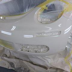 フォルクスワーゲンのニュービートル(ABA-9CAZJ):フロントバンパー板金、塗装