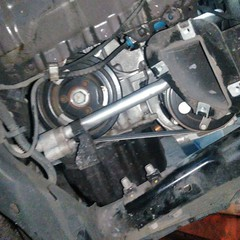 BMWのMINI(DBA-ZC16):ファンベルト、サーモスタットなどの交換、24カ月点検、車検代行