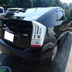 トヨタのプリウス(DAA-ZVW30):リアバンパーカバー他の交換、バックドアパネル、右クォーターパネル他の修理、塗装