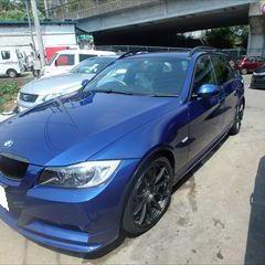 BMWの3シリーズ(ABA-VS25):左リアドア板金、塗装 作業工賃103,704円/合計金額(税込)112,000円