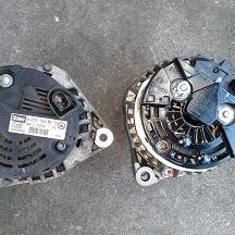 クライスラーのクロスファイア(GH-ZH32):オルタネータ、バッテリー交換、修理 部品代102,200円/技術料20,000円(税別)