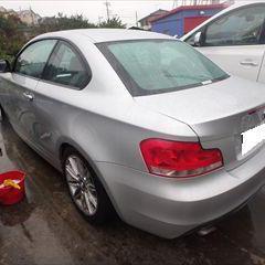 BMWの1シリーズ(LBA-UC20):フロントバンパー、リアバンパー、右ミラーカバー修理、塗装 作業工賃105,000円