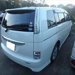トヨタのアイシス(DBA-ZGM10W):バックドア板金、塗装 作業工賃80,000円