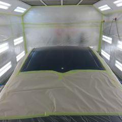 トヨタのプリウス(DAA-ZVW50):ボンネット、ルーフの修理塗装、右リアドアのえくぼ修理 作業工賃:170,000円/合計金額(税込み):183,600円