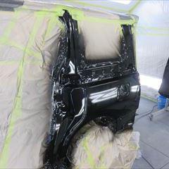 トヨタのヴェルファイア(DBA-ANH20W):左スライドドア、左クォーターパネル板金塗装 作業工賃100,000円/右クォーターガーニッシュ他の交換 部品代金39,600円/合計金額(税込み)150,768円