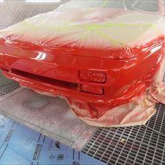 ロータスのエスプリ(E-82HI):フロントバンパー修理、塗装 作業工賃100,000円/合計金額(税込)108,000円
