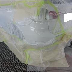 BMWのX1(DBA-HS15):左サイドスカート、左テール交換 部品代金58,800円/左リアドア板金、リアバンパー塗装など 作業工賃166,200円/合計金額(税込)243,000円