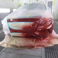 ボルボのV40(DBA-MB4164T):フロントバンパー修理、塗装 作業工賃55,000円/合計金額(税込)59,400円