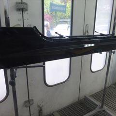 ジャガーのXKRクーペ(CBA-J439A):傷の修理方法と費用 右ドア交換、フロントバンパー、右ヘッドライト、右サイドシルカバー、リアバンパーなどの脱着、修理、塗装