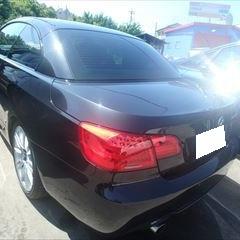 BMWの3シリーズ(ABA-DX35):左サイドステップ、ベルトモール他の交換 部品代金68,720円/左フロントドア板金、塗装など 作業工賃78,800円/合計金額(税込)159,322円