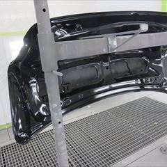 トヨタのクラウン(DAA-AWS210):リアバンパー、トランク、リアスポイラー他の交換、ロアバックパネル板金塗装など