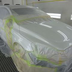 ボルボのXC60(CBA-DB4204TXC):左リアドア、左クォーターパネル板金、塗装 作業工賃200,000円/合計金額(税込)216,000円