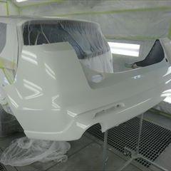 マツダのMPV(DBA-LY3P):リアバンパー交換 部品代金45,800円/クォーターパネル板金、塗装 作業工賃87,000円/合計金額(税込)143,424円