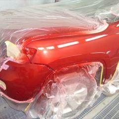 クライスラー・ジープのジープグランドチェロキー(ABA-WK36A):フロントバンパー、左ヘッドライト、左フロントフェンダ板金、塗装 作業工賃200,000円/合計金額(税込)216,000円